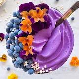 Purple and Orange Smoothie Bowl