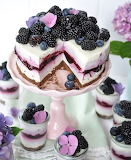 Blackberry blueberry torte