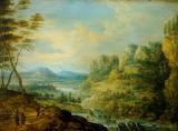 'A river Scene' by Lucas van Uden