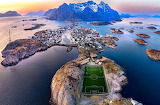 A remote soccer field in northern Norway