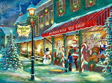 Santa Candy Cane Lane