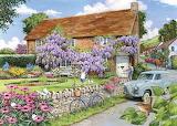 Cottage con glicini