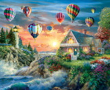 Balloons Over Sunset~ Nicky Boehme