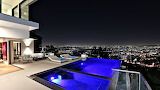 luxury pool ville night