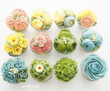 ^ Flower cupcakes