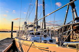 Boat docked at Beaufort North Carolina