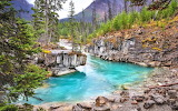 Mountain-blue-river-forest-landscape-british-columbia-canada