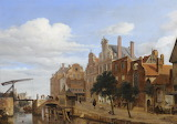View in Amsterdam, The Netherlands by Jan van der Heyden