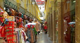 Spain, alley, shops, exhibition