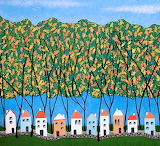 ^ Tiny Town Under The Autumn Trees ~ Lisa Frances Judd