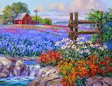 Cuadros-de-flores-en-paisajes-naturales-