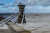 Time and Tide Bell, Morecambe Bay by Robert McEwen