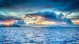 El mar y el atardecer