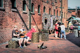 Street musicians Distillery District Toronto Canada