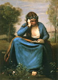 The Reader Wreathed with Flowers ~ Jean Baptiste Camille Corot (