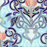 Rjade painted art nouveau pattern base final colorway 2 shop pre