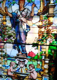 Stained glass window in a casino