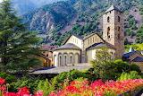 Andorra Kerk Bergen Bloemen