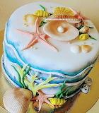 Beach lover's cake @ Tarte de fleurs