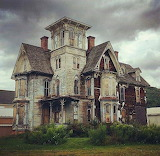 Boarded up abandoned victorian
