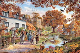 Village in Autumn - Steve Crisp