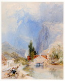 A Watermill in the Alps by James Baker Pyne