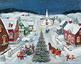 Christmas Carols ~ Mary Singleton december wallpaper lang