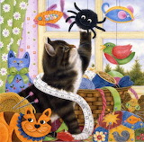 Mortimer, Ann Kitten with Toys and Sewing basket