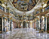 Libraries--Wiblingen Abbey Library, Germany