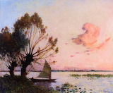 Sailboat on Grande Briere Marsh, Ferdinand du Puigaudeau