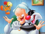 Granny, Tweety, and Sylvester