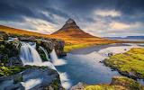 Mountain river waterfall rocks