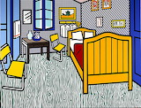 Roy Lichtenstein, Bedroom at Arles , 1992 .