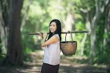 Asian countrywoman