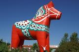 The Large Wooden Dala Horse Sweden