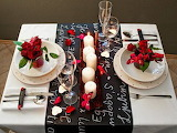 Valentines day table decoration