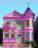 Pastel rainbow house