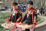 men with sweets-Russian Maslenitsa