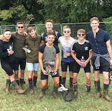 Boys in rubber boot