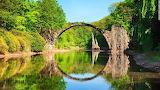 Rakotzbrücke, Rhododendronpark, Kromlau. Germany