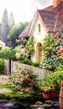 Flower Cottage – Ireland by Roland Lee