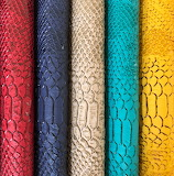 Colorful leather