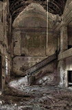 Stairs abandoned mansion