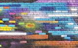 ^ Colorful brick wall