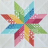 ^ Polka Dot Pinwheel Quilt