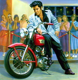 Young Elvis Motorcycle