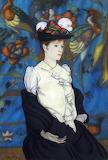 Louis Anquetin, Femme au chapeau, 1890