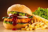 ^ Chicken sandwich and french fries
