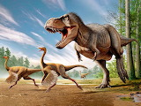 Tyrannosaurus Rex Struthiomimus