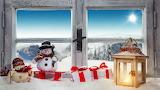 window, christmas decorations